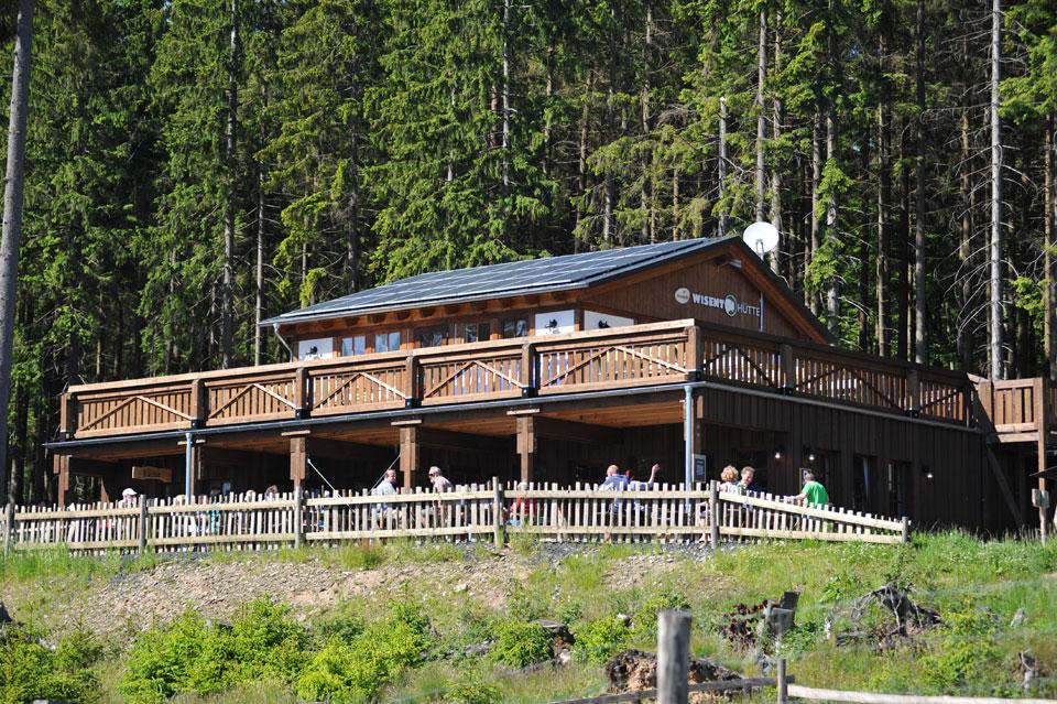 Die Wisent-Hütte bei der Wisent-Wildnis