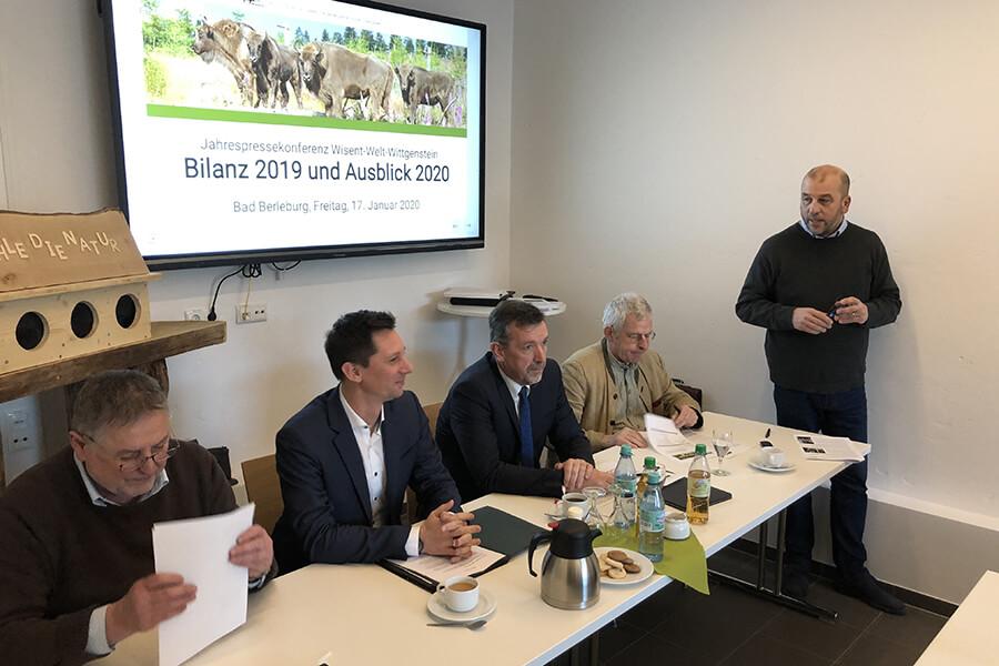Jahrespressekonferenz der Wisent-Welt-Wittgenstein mit Ausblick für 2020