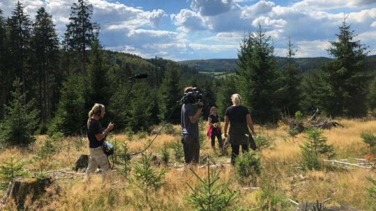 Dreharbeiten zum Beitrag Heimatflimmern: Das grüne Herz Westfalens